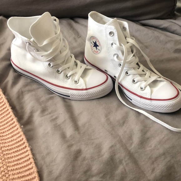 Converse Shoes   Brand New White All